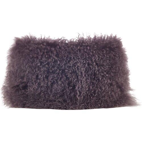 Saro Mongolian Lamb Fur Lumbar Pillow Amp Reviews Wayfair