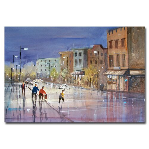 'Summer Showers in Green Bay' by Ryan Radke Painting Print on Wrapped Canvas by Trademark ...