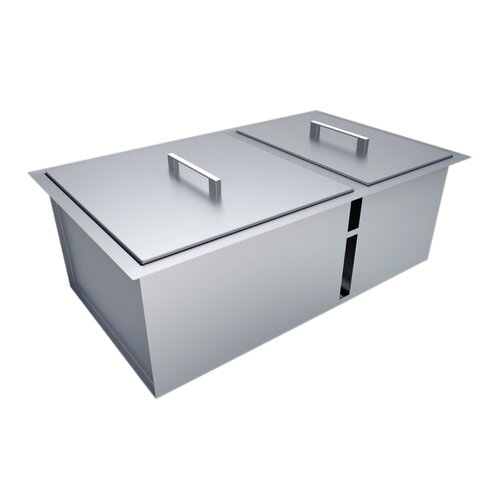 Outdoor Kitchen Over / Under Double Basin Sink With Cover