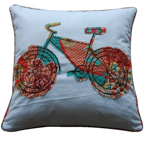 Levtex Home Zanzibar Bicycle Feather Cotton Throw Pillow & Reviews Wayfair