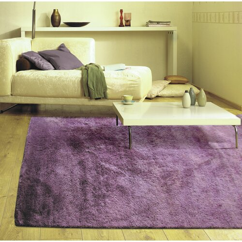 Fur Purple Shag Area Rug