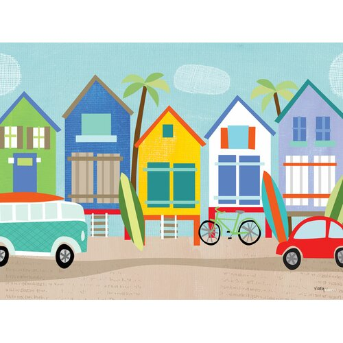Surf shacks wall mural wayfair for Daisy fuentes wall mural