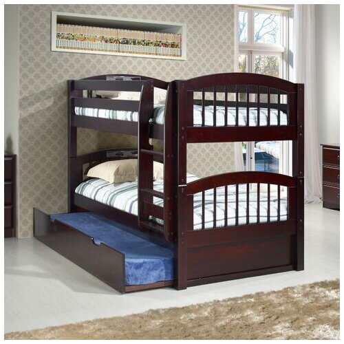 camaflexi low bunk bed with twin trundle 2