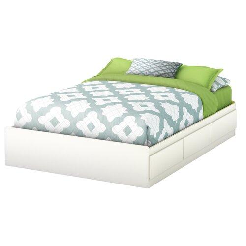 south shore full platform bed with underbed storage reviews wayfair. Black Bedroom Furniture Sets. Home Design Ideas