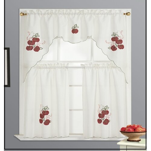 Dainty Home Kitchen Apple Curtain Set & Reviews