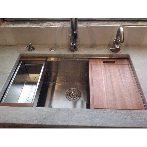 "Gardenweb Kitchens: Ruvati Roma 32"" X 19"" Undermount Single Bowl Kitchen Sink"