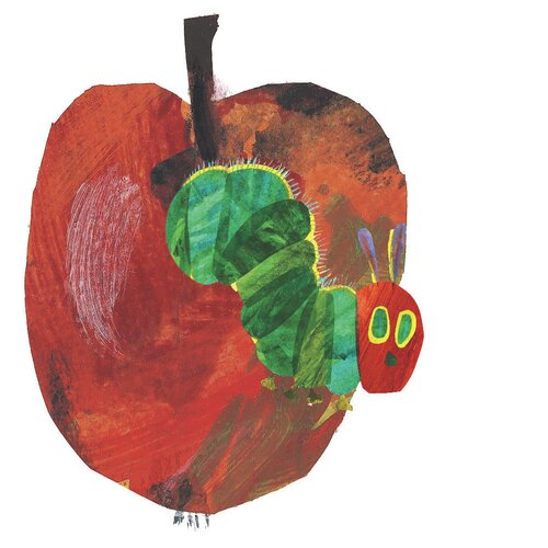 The Very Hungry Caterpillar Character Apple by Eric Carle ...