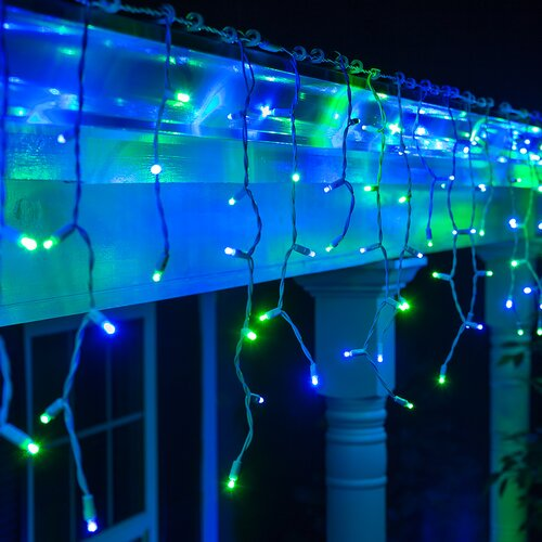 Led Icicle String Lights With Ice Drop : Wintergreen Lighting 70 LED Icicle Light String & Reviews Wayfair