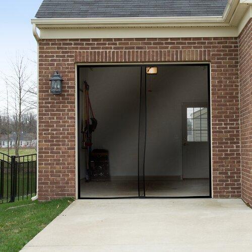 2 piece one car garage screen door wayfair for Piece auto garage