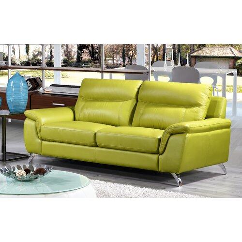 Chicago Leather Sofa Wayfair