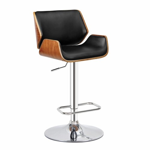 Dempster Adjustable Height Swivel Bar Stool Wayfair