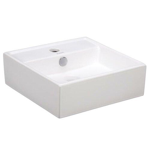 Elanti Porcelain Square Wall Mounted Sink Amp Reviews Wayfair