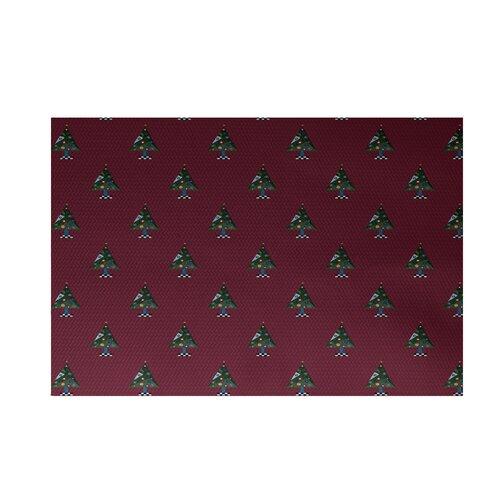 Crazy Christmas Decorative Holiday Print Cranberry