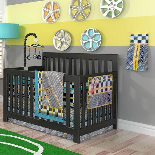 DK Leigh Tiny Turbo 10 Piece Crib Bedding Set & Reviews