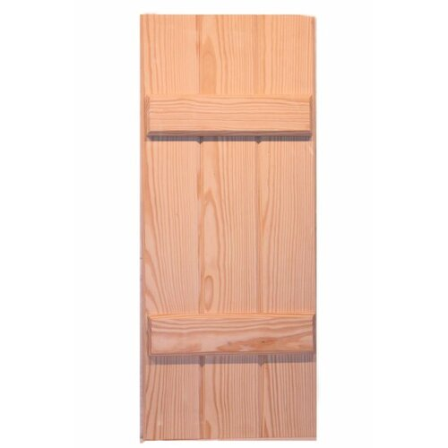 Vinyl standard 4 board joined board n batten shutter wayfair - Board n batten exterior shutters ...