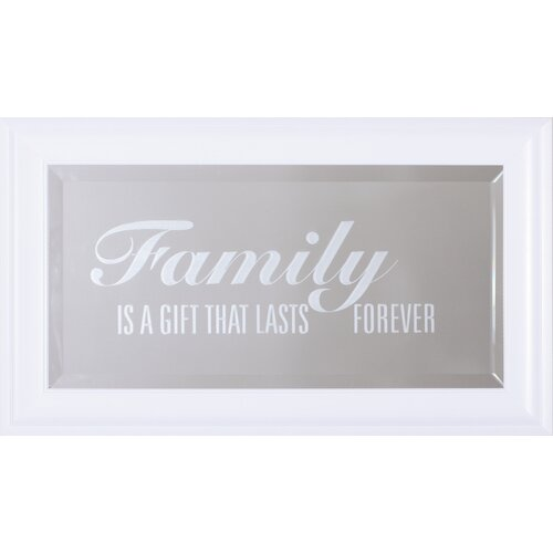 Bathroom Wall Aer: Family Is A Gift Wall Mirror