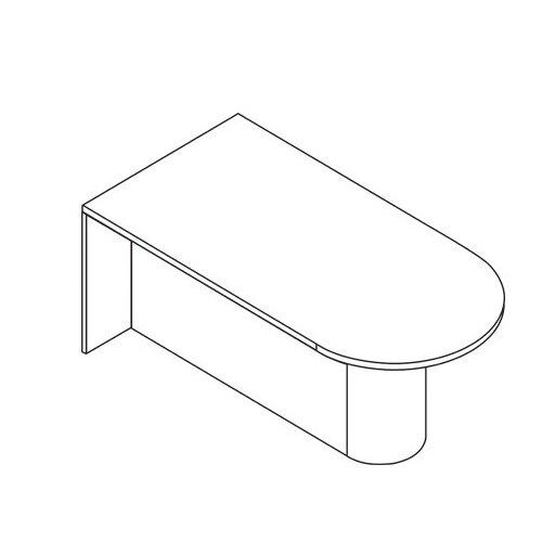 OSP Furniture Sonoma Desk Shell