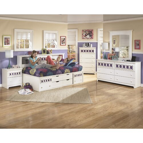 zayley bookcase storage bed full size 2