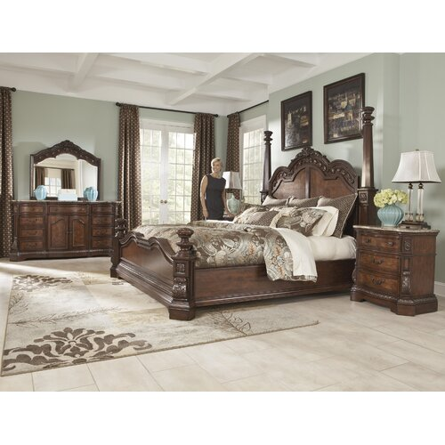 Ledelle Poster Bedroom Set From Ashley B705 51 71 98: Ledelle Poster Bed