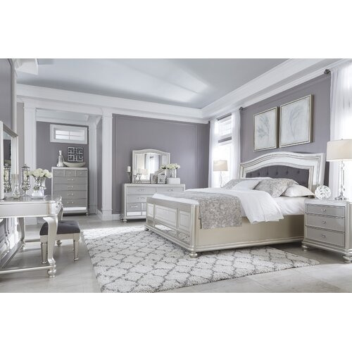 Bedroom Chairs Wayfair Black And White Wallpaper For Bedroom Black Bedroom Sets King Bedroom Black And White Ideas: Signature Design By Ashley Coralayne Panel Customizable