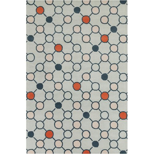 Chandra Stella Patterned Contemporary Wool Beige Aqua Area: Stella Patterned Contemporary Wool Gray Area Rug
