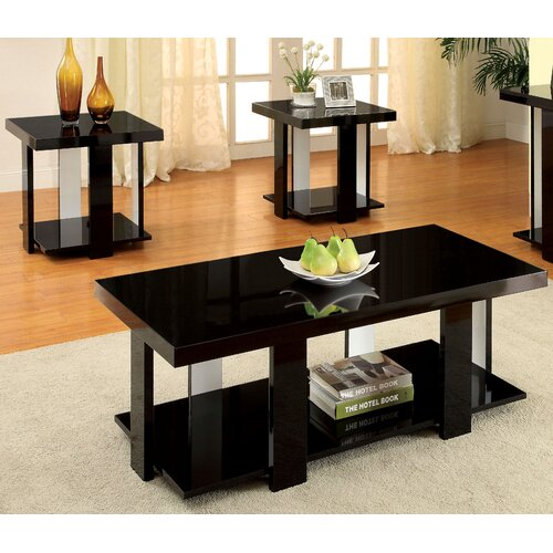 hokku designs eran 3 piece coffee table set reviews wayfair. Black Bedroom Furniture Sets. Home Design Ideas