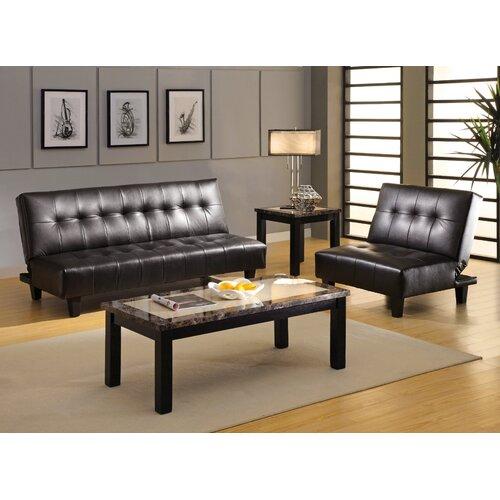 Hokku designs belmont leatherette convertible sofa for Hokku designs living room furniture