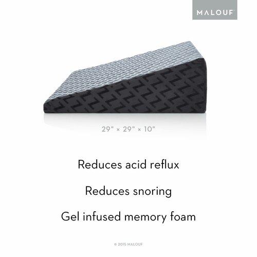 Malouf Z Gel Infused Memory Foam Wedge Pillow Amp Reviews