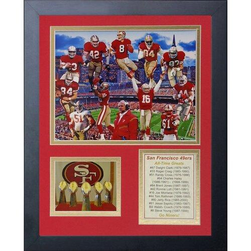 San Francisco 49ers Greats Framed Photo Collage   Wayfair