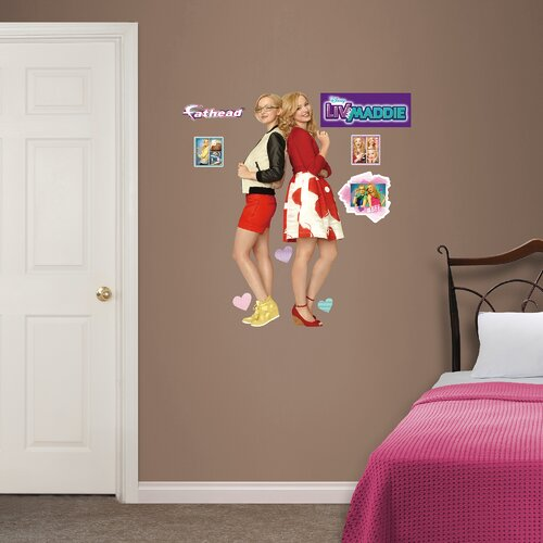 Disney Liv And Maddie Junior Peel And Stick Wall Decal