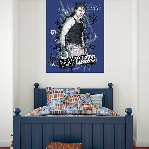 wwe dean ambrose peel and stick wall mural wayfair wall murals wwe pixersize com