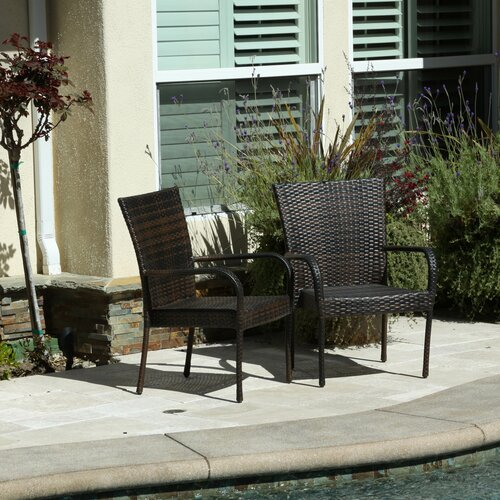 Home Loft Concepts Curacao Outdoor Wicker Chair Set Of 2