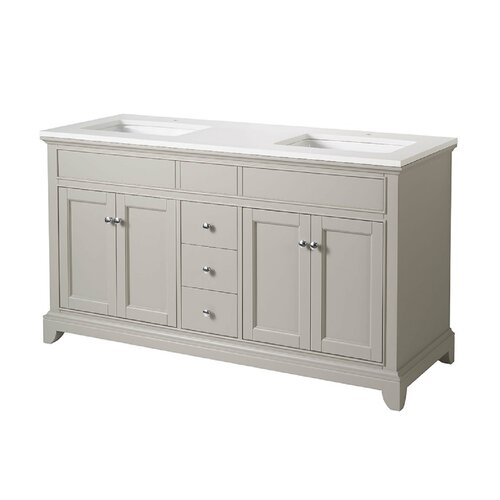 Home Loft Concepts Arianny 59 Double Sink Bathroom Vanity Set Rev