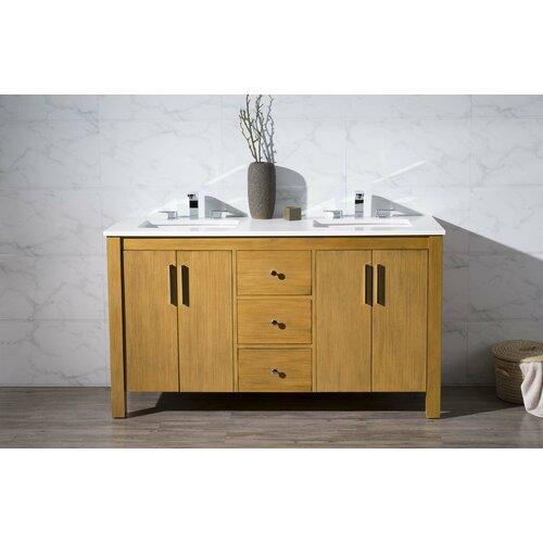Home Loft Concepts Windsor 59 Double Sink Bathroom Vanity Set Reviews Wayfair