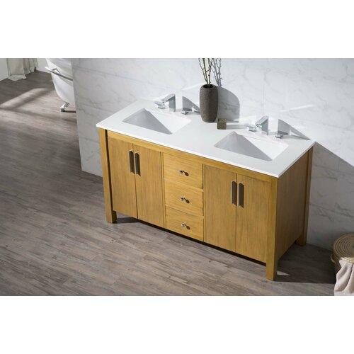 Home Loft Concepts Windsor 59 Double Sink Bathroom Vanity