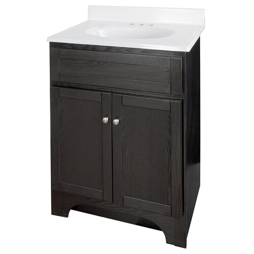 Hazelwood home columbia 24 single bathroom vanity set reviews wayfair - Haze her shower ...