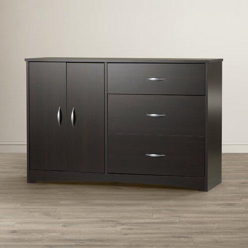 sauder beginnings 3-drawer dresser white 1