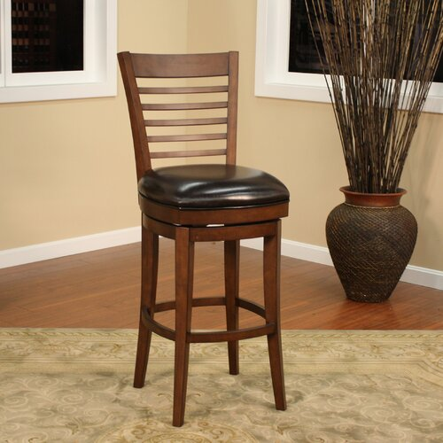 Baxter Swivel Bar Stool with Cushion by American Heritage