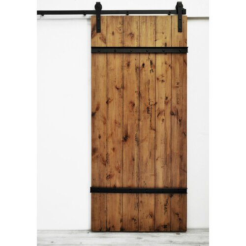 Homcom Interior Sliding Barn Door Kit Hardware Set