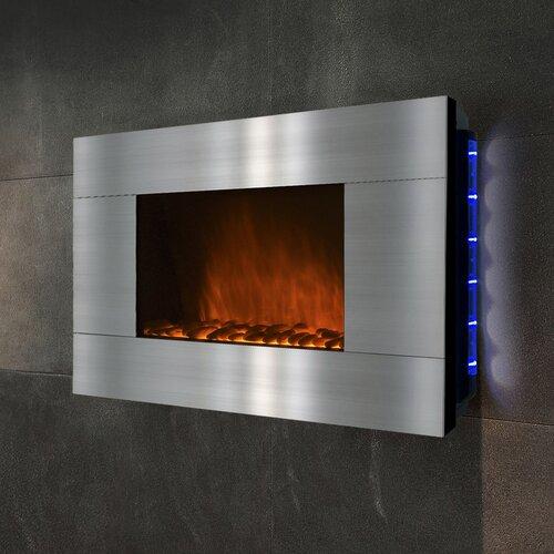 Goldenvantage 36 Wall Mount Stainless Steel Electric Fireplace Reviews Wayfair