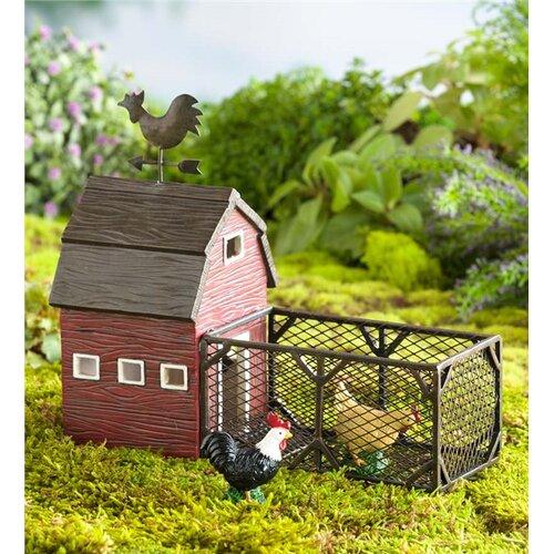 Plow Amp Hearth Miniature Fairy Garden Chicken Coop With