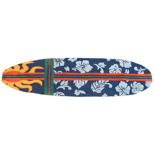 Surfboard Area Rug: Homefires Surfboard Navy Area Rug & Reviews