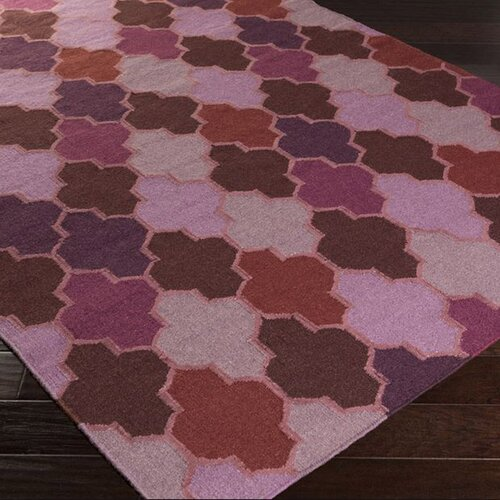 Surya Nia Eggplant Geometric Area Rug & Reviews