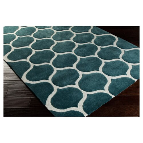 Surya Mamba Teal Blue/Peach Cream Rug & Reviews