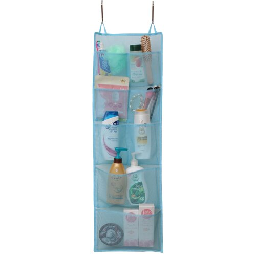 Quick Dry Hanging Shower Caddy with 8 Mesh Pockets