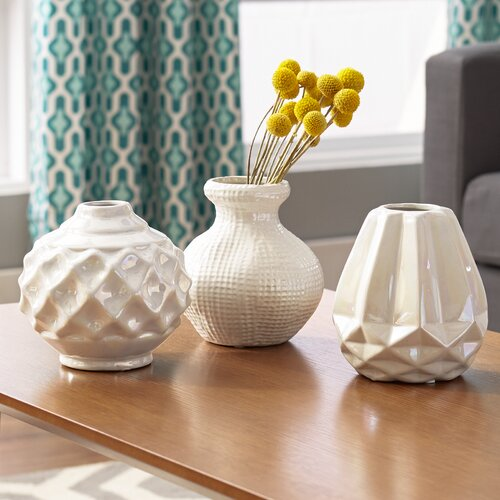 Sila 3 Piece Ceramic Vase Set