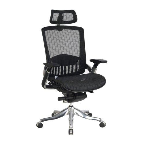 Viva Office High Back Mesh Task Chair With Adjustable Headrest Armrest And S