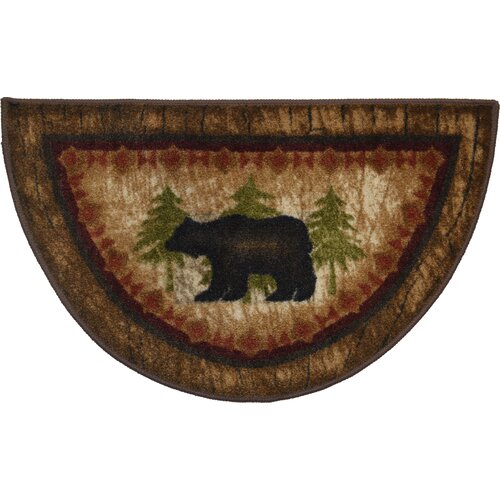Washable Kitchen Wedge Rugs: Mayberry Rug Cozy Cabin Birch Bear Mat & Reviews