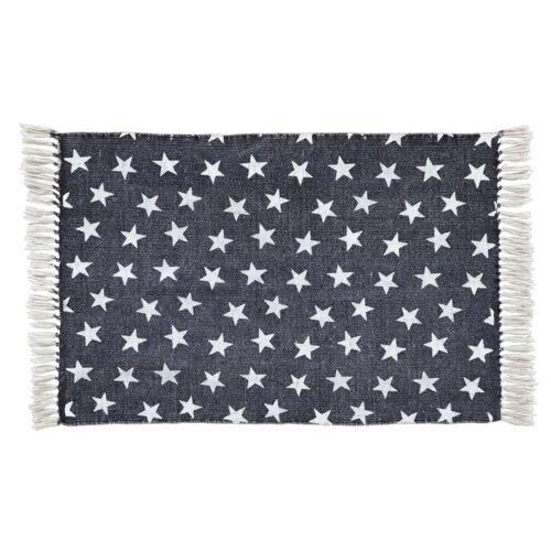 star navy white area rug wayfair. Black Bedroom Furniture Sets. Home Design Ideas
