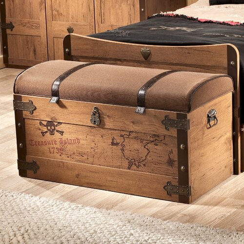 Toy Box Large Solid Wood Storage Chest Trunk Playroom: Cilek Pirate Toy Box & Reviews